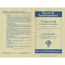 Preisliste Dondorf 1934 Spielkarten Nr. 23 (WK 100846)