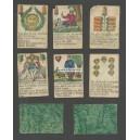 Wahrsagekarte mit deutschen Farben und Sprüchen (WK 15594)
