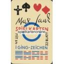 Max Sauk Spielkarten mit I Ging Zeichen (WK 15666)