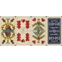 Sächsisches Doppelbild Schneider & Co 1893 Kosmos Cigarette (WK 15885)