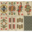 Sächsisches Doppelbild VASS 1940 Doppelkopf Spielkarte Nr. 30 D (WK 16137)