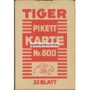 Berliner Bild VASS Tiger Pikett Karte Nr. 800 (WK 16251)