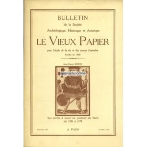 Les cartes à jouer au portrait de Paris de 1701 à 1778 Vieux Papier 310 + 311