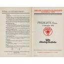 Preisliste VASS 1933 französisch (WK 100850)