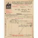 Rechnung VSS Abteilung Altenburg vorm. Schneider & Co 1919 (WK 100844)