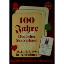 Plakat 100 Jahre Deutscher Skatverband 1999 Altenburg (WK 100374)