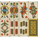 Sächsisches Doppelbild VASS 1940 Doppelkopf Spielkarte Nr. 301 D (WK 16138)