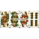 Bayerisches Doppelbild Bielefelder Spielkarten 1960 Rehau Heizung (WK 11634)