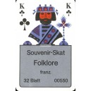 Interflugkarte I Souvenir-Skat Folklore (WK 10273)