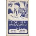 Aufschlagkarte Piatnik 1960 Zigeuner Wahrsagekarten Nr. 1901 (WK 14712)